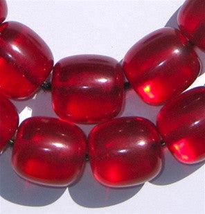 Tasbih Cherry Red Resin Beads - The Bead Chest