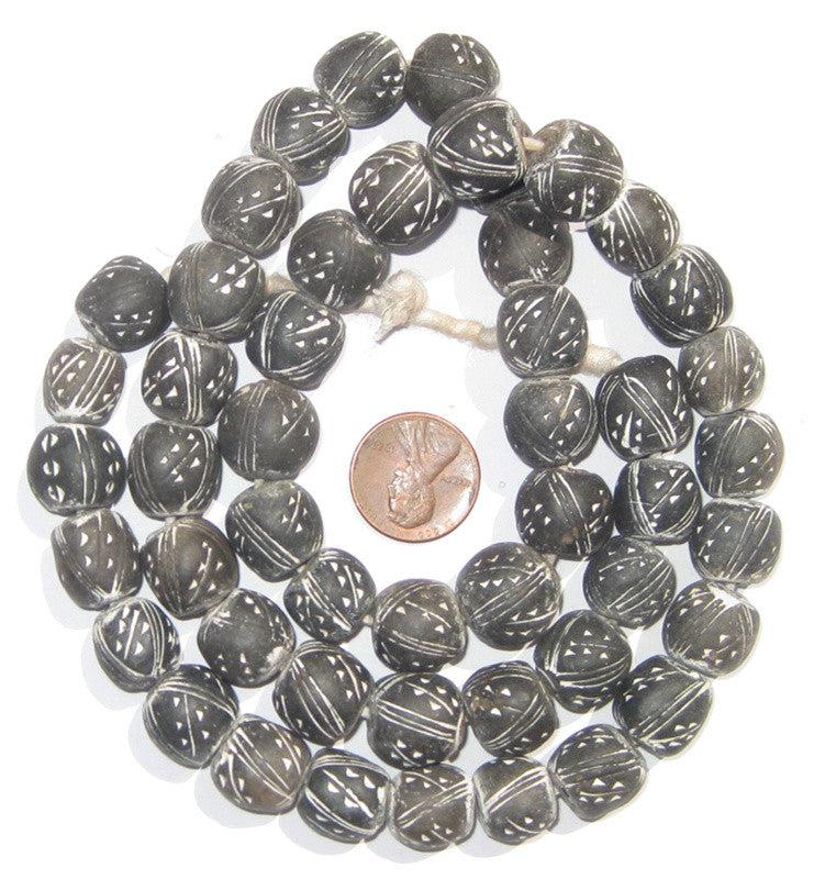 Black & White Terracotta Beads - The Bead Chest