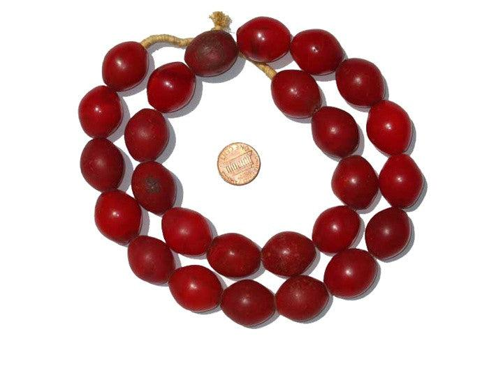 Red Tomato Beads (25x20mm) - The Bead Chest