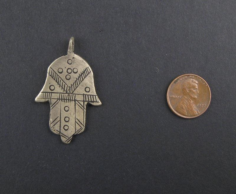 Hamsa Tuareg Pendant (43x29mm) - The Bead Chest