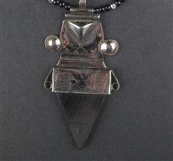 Image of Tuareg Pendant w/ Stone (Large) - The Bead Chest