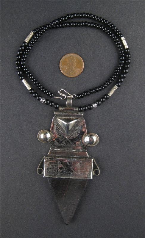 Tuareg Pendant w/ Stone (Large) - The Bead Chest