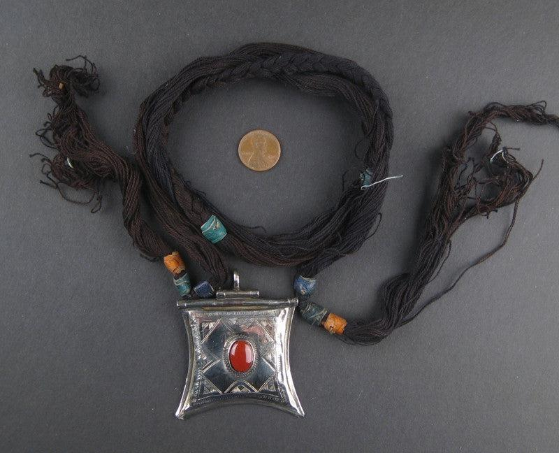 Tuareg Amulet w/ Stone (Large) - The Bead Chest