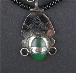 Tuareg Pendant w/ Stone (Medium) - The Bead Chest