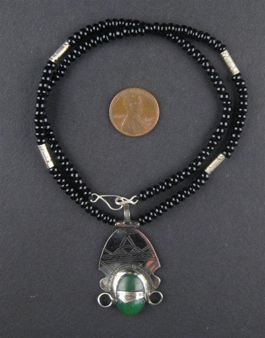 Image of Tuareg Pendant w/ Stone (Medium) - The Bead Chest