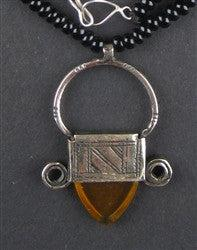 Image of Tuareg Pendant w/ Stone (Small) - The Bead Chest