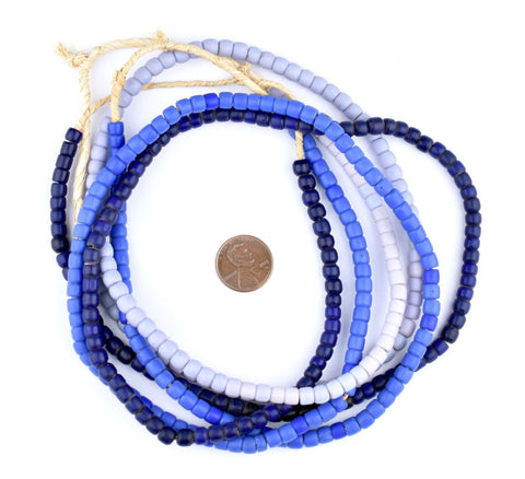 3 Strand Blues Bundle - Vintage Turkana Beads - The Bead Chest