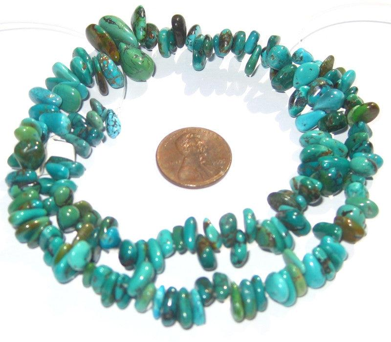 Turquoise Beads, Graduated Teardrop, Flat - The Bead Chest