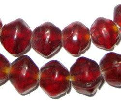 Image of Garnet-Red Vaseline Beads - The Bead Chest