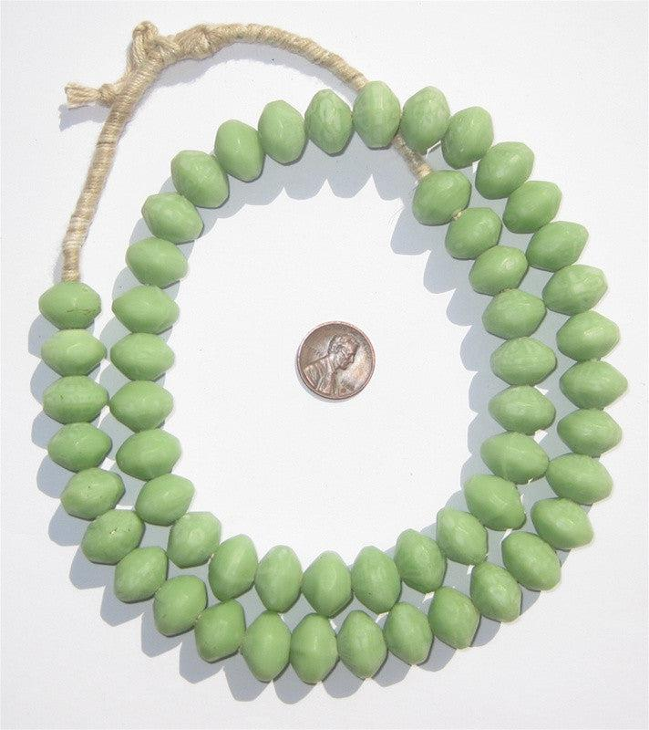 Opaque Green Vaseline Beads - The Bead Chest