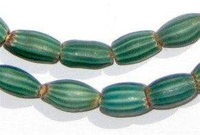 Green Striped Watermelon Chevron Beads - The Bead Chest
