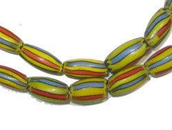 Rainbow Striped Watermelon Chevron Beads - The Bead Chest