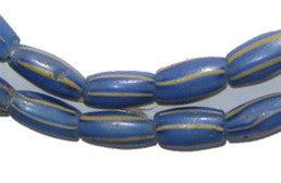 Image of Blue Striped Watermelon Chevron Beads - The Bead Chest