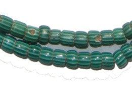 Small Green Watermelon Chevron Beads - The Bead Chest