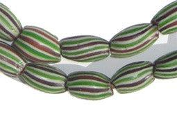 Striped Watermelon Chevron Beads - The Bead Chest