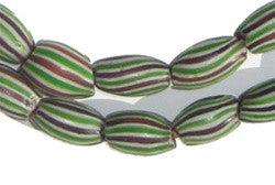 Image of Striped Watermelon Chevron Beads - The Bead Chest