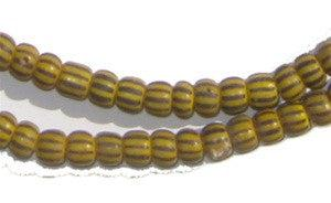 Image of Amber & Black Ghana Chevron Beads (Small) - The Bead Chest