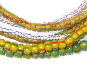 Wholesale Lot of Ghana Chevron Beads (3 Strands) - The Bead Chest