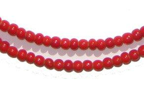 Red White Heart Beads (4mm) - The Bead Chest
