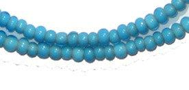 Turquoise White Heart Beads (3mm) - The Bead Chest