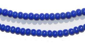 Blue White Heart Beads (4mm) - The Bead Chest