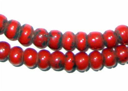 Red White Heart Beads (5mm) - The Bead Chest