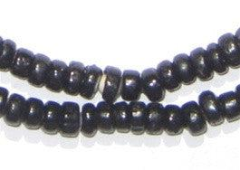 Black White Heart Beads (6mm) - The Bead Chest