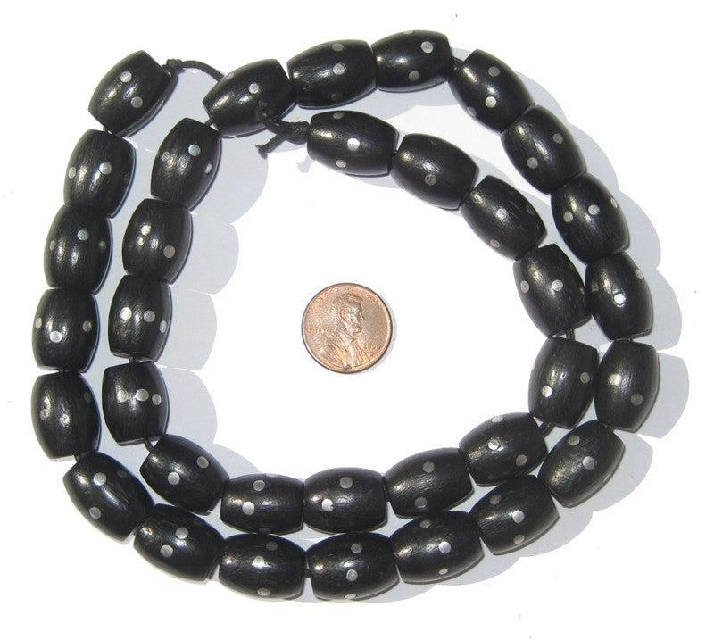 Vintage Mock Black Coral Beads - The Bead Chest