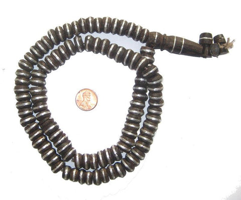 Ebony Mali Prayer Beads (8x13mm) - The Bead Chest