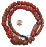 Yoruba Mock Coral Beads (Graduated)