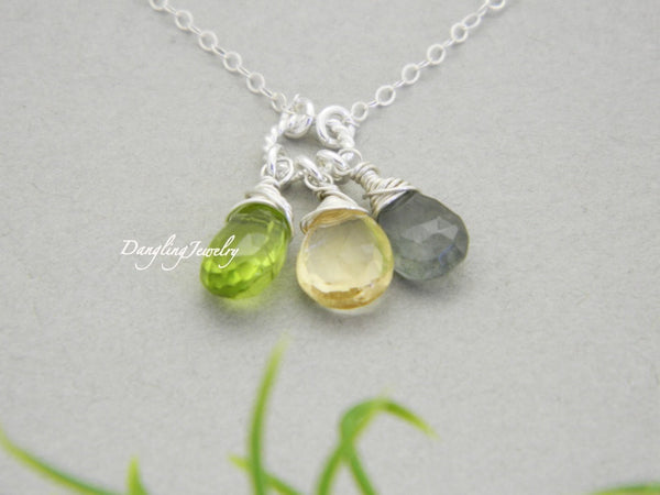 Custom birthstone necklace