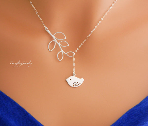 Bird Lariat Necklace