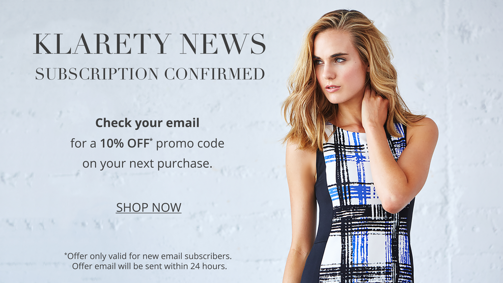Klarety Email Sign Up Subscription Confirmation