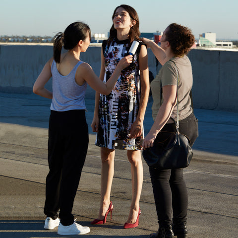 Behind the Scene - Rooftop Photoshoot for Career Women Outfits