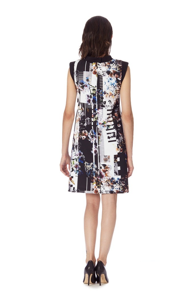 CIENEGA MOCK NECK FLORAL MOD DRESS w/ Pockets - Klarety