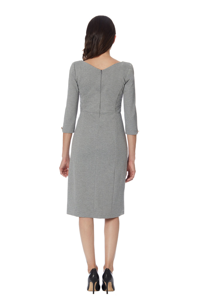 shop grey gray women's work day designer dress shoulder pads clarity klarety
