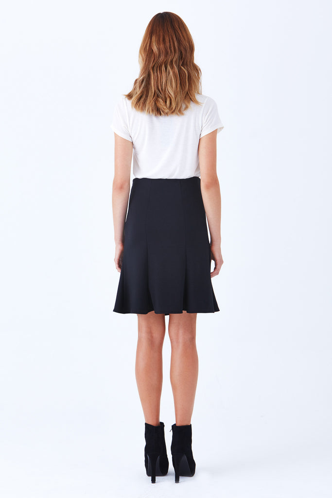 BEVERLY FIT AND FLARE PONTE SKIRT - Klarety