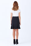 Klarety clarity Black fit and flare skirt for women's work wear, business casual, weekend clothes. BACK