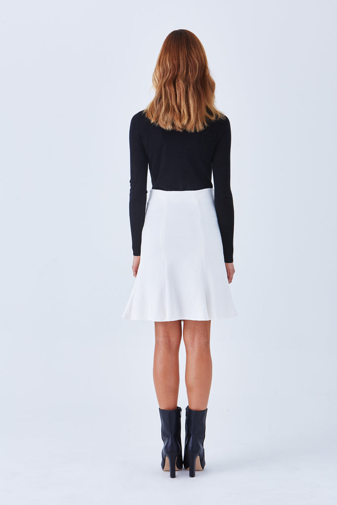 BEVERLY FIT AND FLARE PONTE SKIRT (Lined) - Klarety