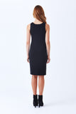 Klarety sleeveless sheath dress designer luxury tailored fitted dress klarity