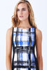 SOFIG SLEEVELESS PLAID SHEATH PONTE DRESS (PRE-ORDER) - Klarety