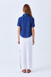 OGDEN MAXI SKIRT WITH SIDE SLIT - Lined - Cobalt blue fit & flare skirt