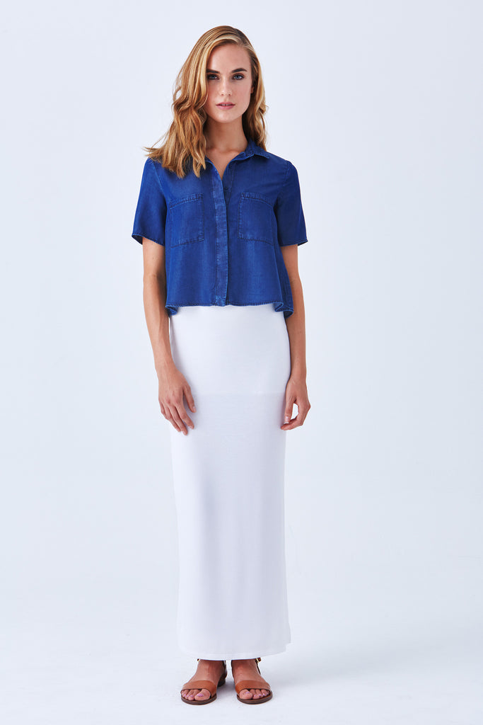 OGDEN MAXI SKIRT WITH SIDE SLIT - Lined - Klarety