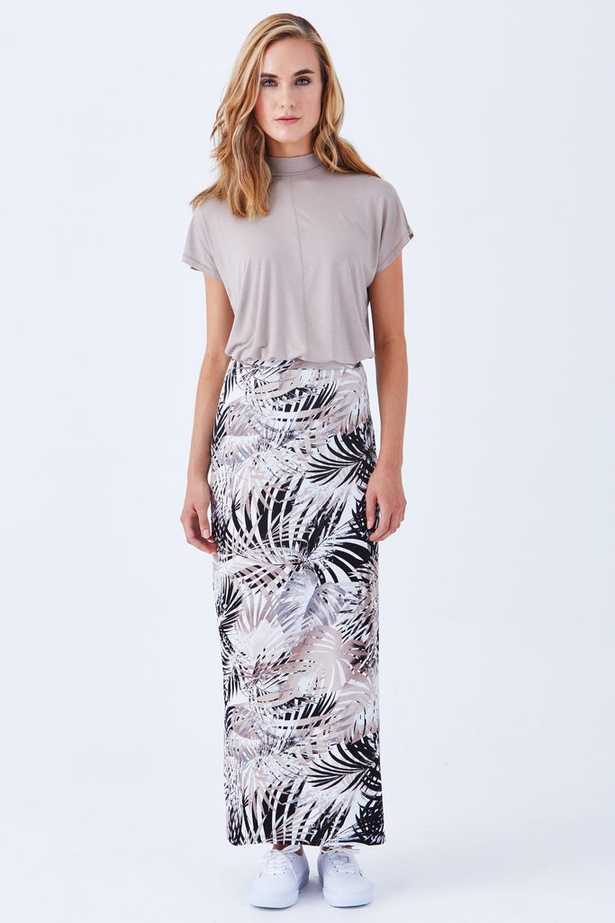 COAST MAXI SKIRT WITH SIDE SLIT - Klarety
