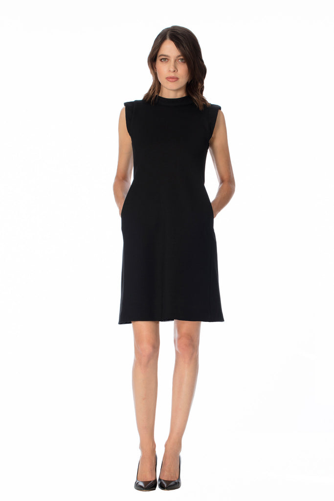 CIENEGA MOCK NECK MOD DRESS w/ Pockets - Klarety
