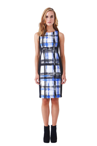 CRESTA HIGH WAIST PLAID PENCIL PONTE SKIRT