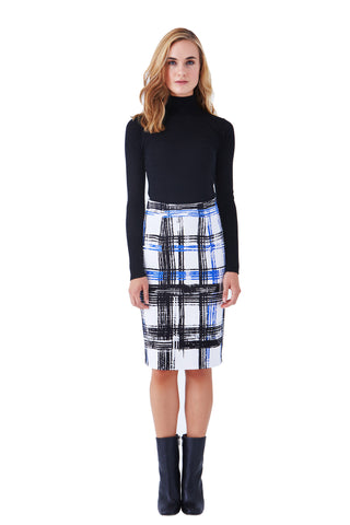 BEVERLY FIT AND FLARE KNIT SKIRT