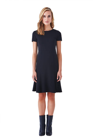 PASEO SHORT SLEEVE FIT AND FLARE PONTE DRESS (PRE-ORDER)