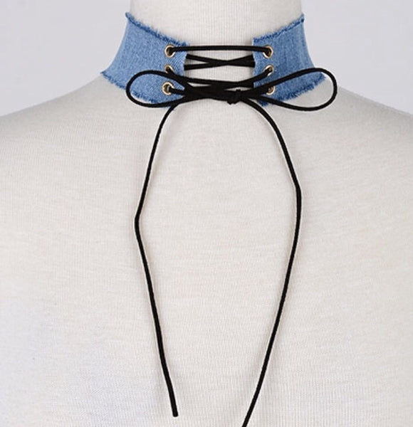 Denim Me Up Choker