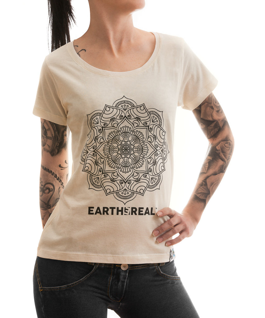 Indian Mandala økologisk/fair trade T-skjorte - Dame